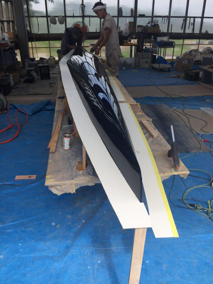 カヌー新艇試作品製作2