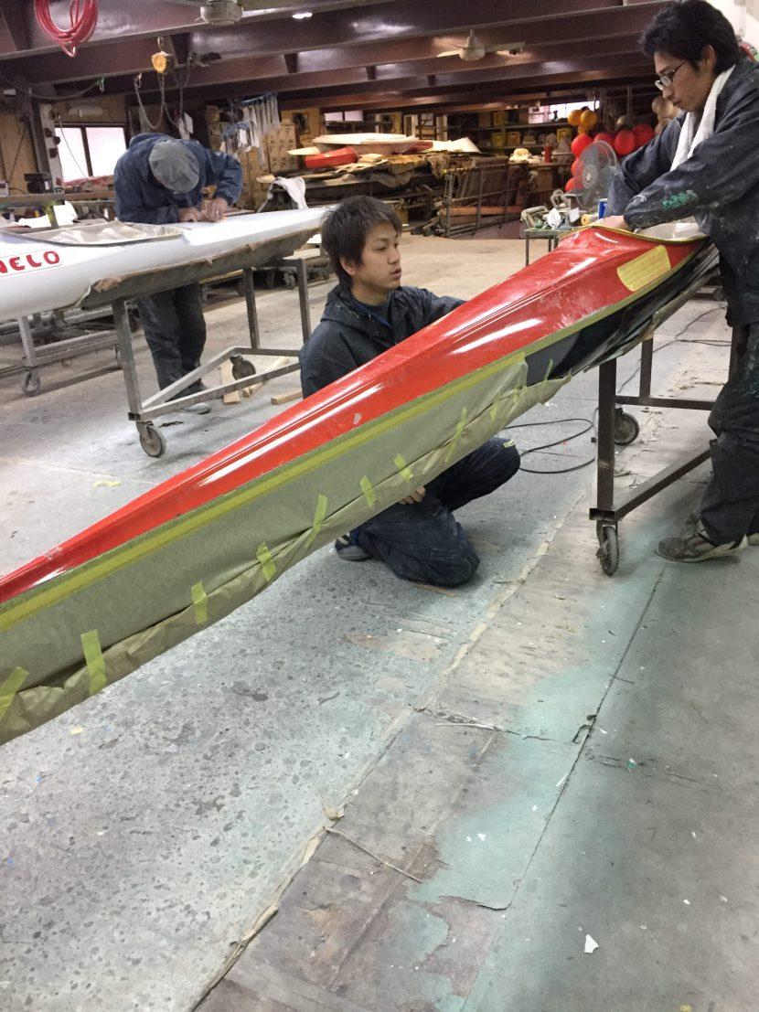 カヌー修理1