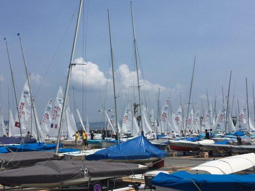 ヨットの世界大会風景