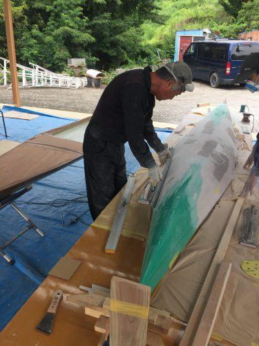 カヌー新艇試作品製作